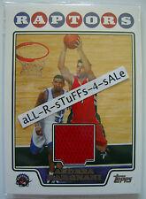 2008-09 Topps ANDREA BARGNANI Retail JERSEY Toronto Raptors IL MAGO Rare #TBKR2