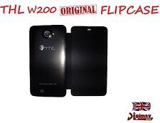 Original Leder Flipcase für z.B. W200 MTK6589 QuadCore Dualsim Smartphone UK