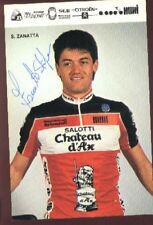 STEFANO ZANATTA cyclisme Signé CHATEAU D'AX Autografo cycling ciclismo radsport