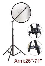 Reflector Panel Backdrop Arm Grip Holder  + Light Stand