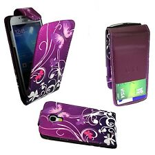 Funda para samsung Galaxy S4 Mini Violeta Rosa Mariposa Swirl Plegable PU Cuero