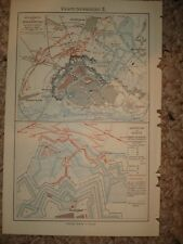 STRASBURG GERMANY ANTIQUE MAP Superb W FORTRESS MAP NR