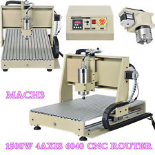 4 Axis CNC 6040 Engraver Desktop 3D CNC Router 1.5KW Water-cooled Spindle Motor