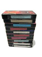 Lot of 10 VHS Tapes PreRecorded Content Sold As Used Blanks (10)