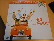 ancien calendrier 2005 pub 2 cv + automobiles