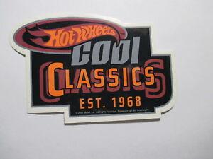 Hot Wheels Cool Classics Sticker Toy Vehicles Cars Trucks Vintage NOS