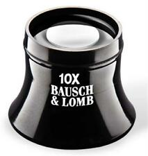 Bausch Lomb New Precision Watchmaker Loupe 10X Lightweight Glass Lens Magnifier