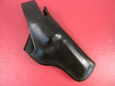 "Bianchi #5B Leather Black Belt Holster for S&W K-Frame Revolver Model 19 4"" Bbl"