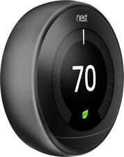 Nest Learning Thermostat - 3rd Generation- Smart Home Automation Black