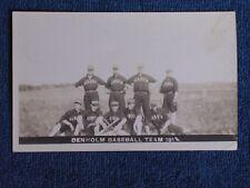 Denholm Baseball Team 1912/Denholm (SK or QC?) Canada/AZO Stamp Box RPPC