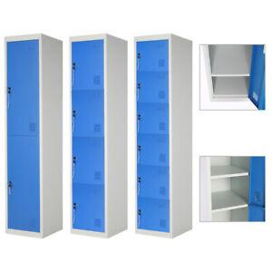 Metal 2,4,6 Door Key Lockable Staff/Gym Storage Locker Work Lockers Cabinet Unit