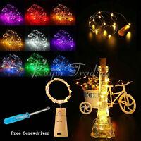 15/20 LED Corcho Forma estrellado luz Botella Cuerda Guirnalda de luces con /