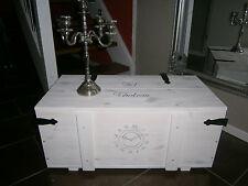 %Couchtisch Truhe Tisch Kiste Frachtkiste Holzkiste Holz Minibar Loft Uhr