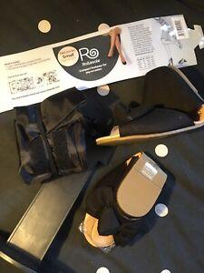 Rollasole Foldable UK 3.5-4 BAG BALLET FLAT COURT PUMPS IN BAG Black Peep Toe