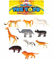 10 Plastic Jungle Animals - Pinata Toy Loot/Party Bag Fillers Wedding/Kids