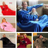 Snuggie Fleece Blanket Sleeves Soft Throw Blanket Home Winter Warm Robe Cloak
