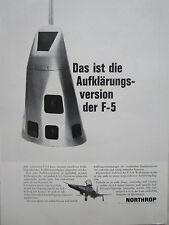 1960's PUB NORTHROP F-5 AUFKLARUNG RECONNAISSANCE ORIGINAL GERMAN AD