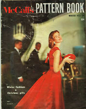 1950s Vintage McCalls Pattern Book Fashion Magazine Catalog Winter 1955 1956