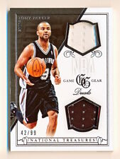 2013-14 National Treasures Tony Parker NBA Game Gear Dual Jersey (xx/99) - QTY