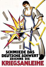 1917 WW I German Propaganda War Bonds  Poster Print