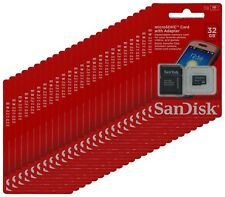 SanDisk 32GB Microsd SD Micro SDHC Wholesale TF Flash Memory Card Lot 100 New