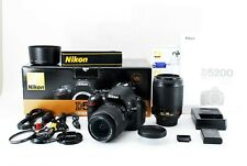 Nikon D5200 24.1MP Digital SLR Camera  Black & 2 Lens [Low Shutter 954] [FedEx]