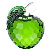 Green Glaze Crystal Apples Paperweight Crafts Decoration