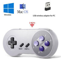 Wireless Classic USB SNES Controller Joypad For PC / MAC Super Nintendo Games