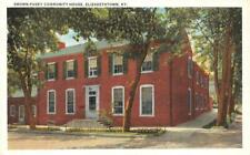 Elizabethtown, Ky Kentucky Brown-Pusey Community House c1920's Postcard
