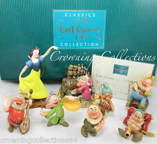 WDCC Snow White and the Seven Dwarfs Ornament Set LE Disney Classic Collection 7