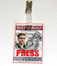 Spiderman Peter Parker ID Badge Press Photographer Cosplay Costume Comic Con