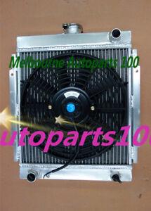 For DATSUN radiator + Fan 1200 Manual 1970-1976 3 core aluminum