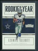 Ezekiel Elliott RC 2016 Panini Contenders Rookie of the Year Card Dallas Cowboys