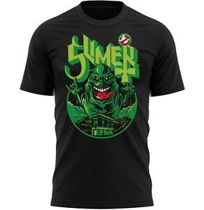 Slimer Ghost Halloween Horror T-Shirt Adults Novelty Shirt Top Gift For Men
