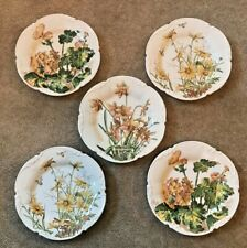 George Jones & Sons Familiar Flowers H.O.J. Set of 5 Crescent Made in England
