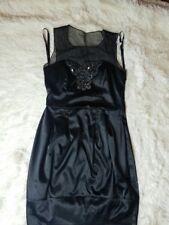 BISOU BISOU Women Size 6 Black Cocktail Dress Beaded Sleeveless Bubble Dress
