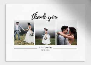 Printable Personalised Wedding Photo Thank You Cards | Photo Collage Card