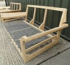 Grand 3 Seater Hardwood Lounge Sofa Settee Frame Upholstery Project Spring Unit