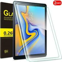 2 PACK Tempered GLASS Screen Protector for Samsung Galaxy Tab A E A 3 4 S2 S3 S4