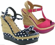 Wedge High (3-4.5 in.) Peep Toes Shoes for Women