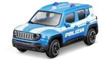JEEP RENEGADE POLIZIA BBURAGO MODELLINO METALLO DIE CAST 1/43 NUOVA