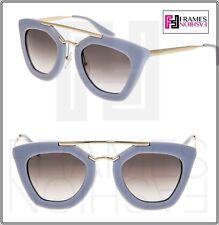06ba11de78551 Óculos de Sol PRADA CINEMA 09Q Opala Cinza e Ouro Aviador Gradiente  Mulheres Olho De Gato PR09QS