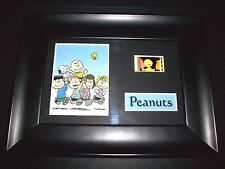 PEANUTS Framed Movie Film Cell Memorabilia - Compliments poster dvd snoopy