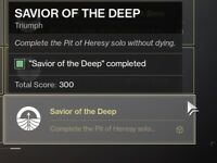 Destiny Shadowkeep Pit Of Heresy Solo FLAWLESS XB1 PS4 PC