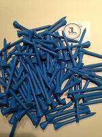 """1000 JL Golf blue wooden tees 69 / 70mm long (2 3/4"""") *NEW* Xmas gift  fathers"""