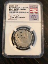 2014-S 50c Tommy Lasorda Baseball Coin NGC (Proof) PF-69 Ultra Cameo/ Brand New