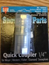 """Buyers Products S.A.M. 1304025 Hydraulic Quick Coupler & Plug, 1/4"""" NPTF"""