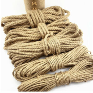 Natural Hemp Cord Ropes 6mm-40mm Jute Rope Sash Hessian Rope Sisal Twine Rope