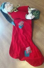 Vintage Dept 56 DICKENS CHRISTMAS CAROL SCROOGE Christmas Stocking 1987