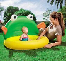 Piscina niños bebé bañera con toldo 50+UPF 107x104x71cm suelo hinchable Bestway